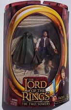 LOTR THE TWO TOWERS. FRODO W/ LIGHT-UP STING ACTION FIGURE. UNOPENED. HALF-MOON