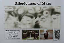 SIR PATRICK MOORE Signed Ltd Edition 17X12 Print ASTRONOMY ALBEDO MARS MAP COA