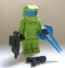 Lego Custom HALO MASTER CHIEF Spartan Minifigure -Lime Green- Sword Rifle Pistol