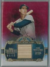 2013 TOPPS TRIBUTE TO THE STARS RED REFRACTOR TED WILLIAMS BAT 01/10!!