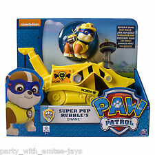 Paw Patrol Super Rubble's CRANE Toy - Toys Paw Patrol - Aussie Seller! Authentic