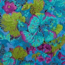 By 1/2 Yard Free Spirit Philip Jacobs Grandiose Turquoise ~ Blue Floral Fabric