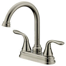 Long Neck Bar/Bathroom Faucets LB6B, Brushed Nickel Finish (4 In Spread)