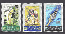 ST. CHRISTOPHER , NEVIS , ANGUILLA , 1977 , SILVER JUBILEE , SET OF 3 , VLH