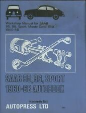 SAAB 2-STROKE 95 96 SPORT & MONTE CARLO 1960-1968 OWNERS WORKSHOP MANUAL * VGC *