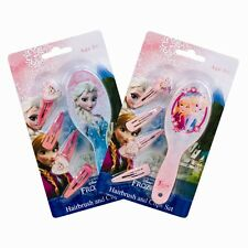 2x Pack of Disney Frozen Princess Elsa & Anna Childrens Kids Hair Brush Clips
