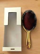 NEW JANEKE Jäneke 1830 Italy 24k Galvanised GOLD PADDLE HAND MADE HAIRBRUSH 9""