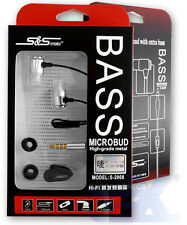 S&S S-2008-4 Silver Aluminum Earbuds Earphones with Mic/Remote for Iphone/ipad