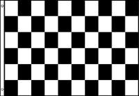 3' x 2' Black and White Check Flag Chequered Checkered Motor Race Racing Banner