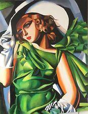"""Nuevo David Aldus Original """"Young Lady Tamara De Lempicka Arte Deco Pintura"""