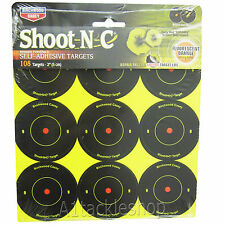 "Birchwood Casey 2"" Shoot-N-C Stick on Targets (108 pack) Air Rifle/Pistol 22/177"