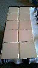 Vintage pink ceramic wall tile 4 1/4 lot of 40