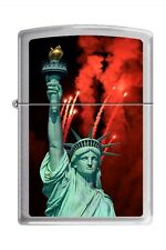 Zippo 3662 statue of liberty brushed chrome Lighter
