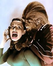 MICHAEL LANDON YVONNE LIME I WAS A TEENAGE WEREWOLF 8x10 HAND COLOR TINTED PHOTO