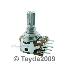 2 x 500K OHM Logarithmic Dual Rotary Taper Potentiometer A500K 500KA POT ALPHA