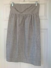 BDG Urban Outfitters Chambray Denim Blue & White Striped Dress Size Small