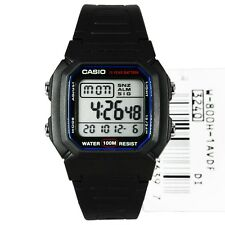 W-800H-1A Black Genuine Casio Dual Time Alarm Digital Men's Watch Digital New