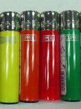 4 PACK CLIPPER LIGHTER REFILLABLE ASSORTED SOLID  COLORS