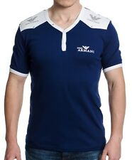 Emporio Armani T-shirt Short Sleeves Navy Color Size XXL Men's Modern Fit Sale