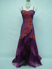 Cherlone Purple Ballgown Wedding Evening Bridesmaid Formal Dress UK 14-16