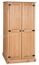 Mercers Furniture® Corona Budget Mexican Pine 2 Door Wardrobe