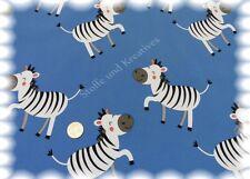 Softshell Zebra blau Kinderstoff Jackenstoff Outdoor 50 cm wasserabweisend