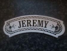 Vintage dodo designs (mfrs) émail de plaque nom-jeremy