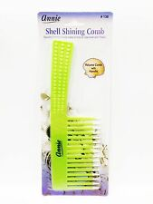 ANNIE SHELL SHINING COMB VOLUME COMB WITH HANDLE #138 WIDE TOOTH COMB BIG COMB