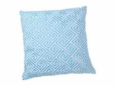"""Trina Turk Turquoise BED PILLOW ~ Trellis ~ Decorative Square 18"""" Feather Filled"""