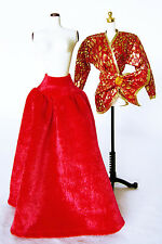 Barbie tenue vintage rouge et or Haute couture #3248 1986 Outfit