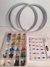 """158 PC BRAKE LINE FITTING  Assortment + 3/16"""" and 1/4"""" 25' Steel Brake Lines"""