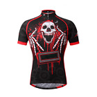 Novelty Cycling Jerseys Bike Clothing Men's Bicycle Cycling Shirts Grim Reaper