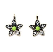 Fashion Floral Flower Stone Earrings Drops Studs Ladies Boho Neon Christmas Gift