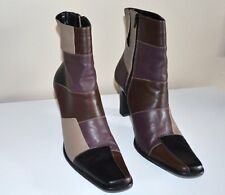 3 Day SALE Jan 21-24   Paola Ruggeri leather patchwork high heel ankle boots