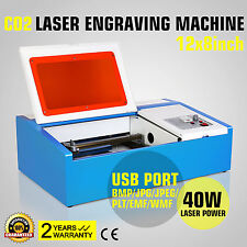 MÁQUINA DE GRABADO LÁSER CO2 CUTTER 40W LASER ENGRAVER ENGRAVING MACHINE PRINTER