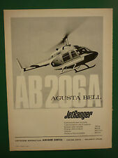 11/68 PUB GIOVANNI AGUSTA GALLARATE HELICOPTER BELL AB-206A JET RANGER FRENCH AD