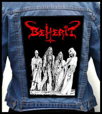 BEHERIT - The Oath of Black Blood  --- Giant Backpatch Back Patch