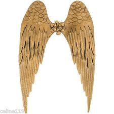 """Metal Angel Wings Distressed Gold Vintage Wall Decor Shabby Chic 26"""" X 18"""""""