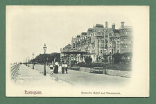 EARLY 1900'S PC GRANVILLE HOTEL & PROMENADE RAMSGATE