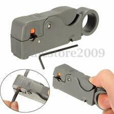 Double Blades Fully Adjustable Wire Stripper Cutter Cable Stripping Tool RG6/59