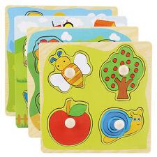 1x Neu Kleinkind Kinder Pädagogisch Holzpuzzle Steckpuzzle Holzpuzzle Spielzeug