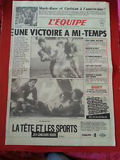 journal  l'équipe du 23/02/87  RUGBY TOURNOI FRANCE GALLES ATHLETISME MARIE ROSE