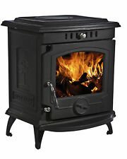 11.5kW 657 Lilyking Matt Black Multi Fuel Cast Iron Boiler Stove