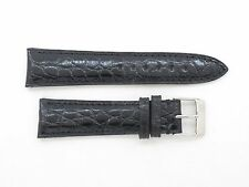 Genuine Frederique Constant Black Alligator Watch Strap 19/16mm with Buckle