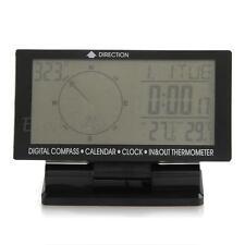 LCD Thermomètre Voltmètre Boussole Heure Testeur Tension Temp °C/°F pour Auto