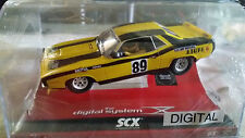 SCX digital Plymouth AAR Cuda Yellow Chimie
