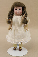 "7"" antique bisque head German Doll w wood composition body 1890+"