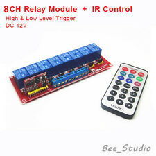 12V 8 CH Channel IR Infrared wireless Remote Control Switch Relay Module Tafel