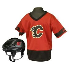 Calgary Flames Franklin Sports Hockey Uniform Set for Kids - Ages 5-9