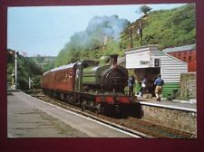 POSTCARD IVATT 0-6-0ST EX GNR LOCO NO 1247 AT GOATHLAND STATION